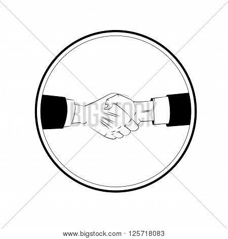 Business handshake. Agreement handshake sign for apps and websites. Vector