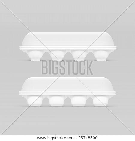 Illustration of White Egg Box Isolated on Background