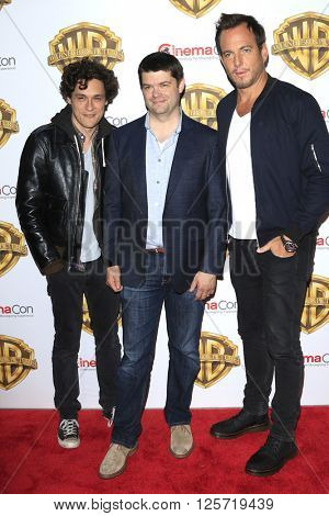 LAS VEGAS - APR 12: Christopher Miller, Phil Lord, Will Arnett at the Warner Bros. Pictures Presentation during CinemaCon at Caesars Palace on April 12, 2016 in Las Vegas, Nevada