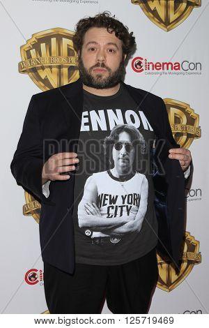 LAS VEGAS - APR 12: Dan Fogler at the Warner Bros. Pictures Presentation during CinemaCon at Caesars Palace on April 12, 2016 in Las Vegas, Nevada
