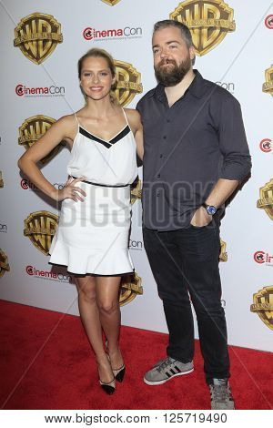 LAS VEGAS - APR 12: David Sandberg, Teresa Palmer at the Warner Bros. Pictures Presentation during CinemaCon at Caesars Palace on April 12, 2016 in Las Vegas, Nevada
