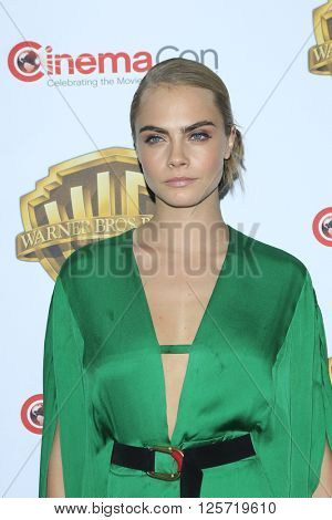 LAS VEGAS - APR 12: Cara Delevigne at the Warner Bros. Pictures Presentation during CinemaCon at Caesars Palace on April 12, 2016 in Las Vegas, Nevada