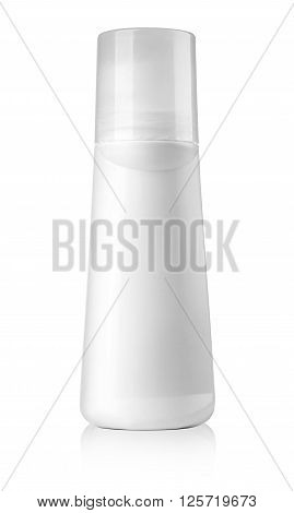 White tubes of deodorant isolated on white with clipping path