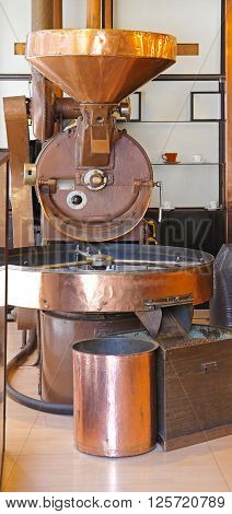 Small Scale Commercial Drum Type Copper Coffee Roaster