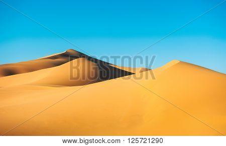 Sand dunes in the Sahara desert, Morocco.