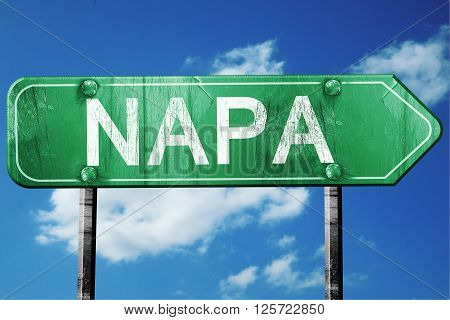 napa road sign on a blue sky background