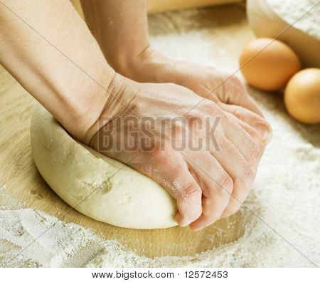 Bread Cooking.Dough