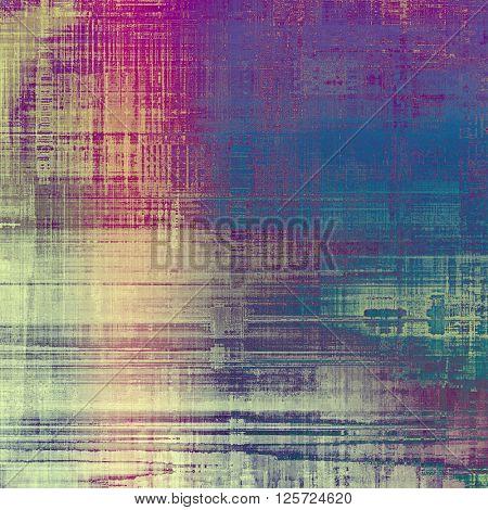 Elegant vintage background, grunge design template. Ancient texture with different color patterns: yellow (beige); blue; purple (violet); gray; pink