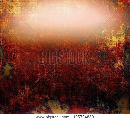 Grunge abstract textured background, aged backdrop with different color patterns: yellow (beige); brown; red (orange); black; pink