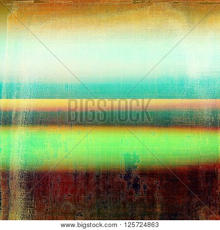 Scratched vintage colorful background, designed grunge texture. With different color patterns: yellow (beige); brown; green; blue; red (orange)