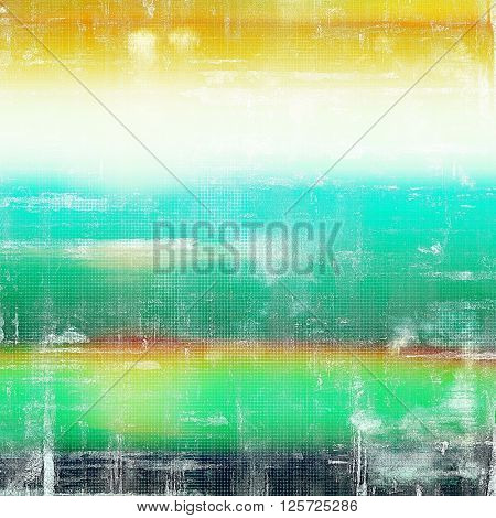 Creative grunge background in vintage style. Faded shabby texture with different color patterns: yellow (beige); green; blue; red (orange); white