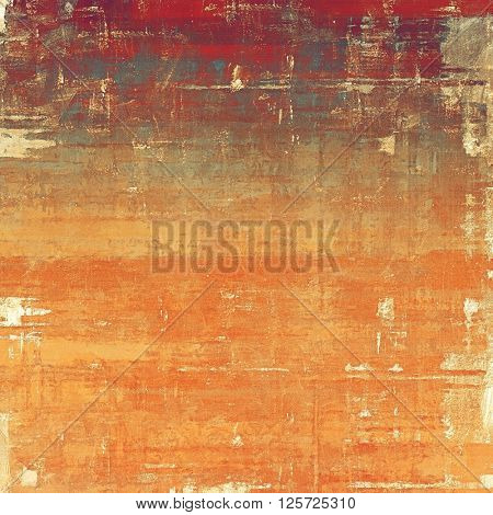 Stylish grunge texture, old damaged background. With different color patterns: yellow (beige); brown; red (orange); gray; cyan