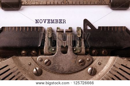 Old Typewriter - November