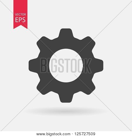 Setting icon, setting icon vector, setting web icon isolated on white background. Vector illustration