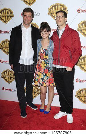 LAS VEGAS - APR 12: Nicholas Stoller, Katie Crown, Andy Samberg at the Warner Bros. Pictures Presentation during CinemaCon at Caesars Palace on April 12, 2016 in Las Vegas, Nevada