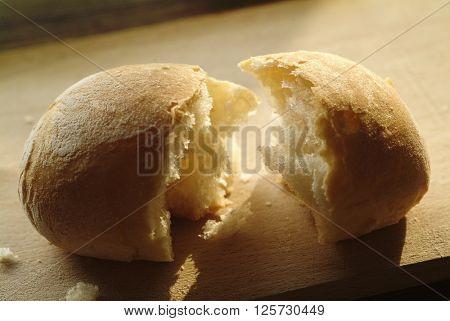 little bread broken on the table
