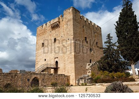 Kolossi Castlestrategic important fort of Medieval Cyprusfine example of military architecture. Limassol District.