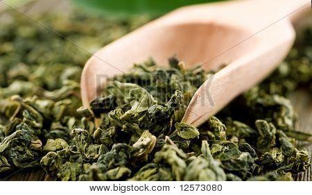 High Quality Green Tea closeup