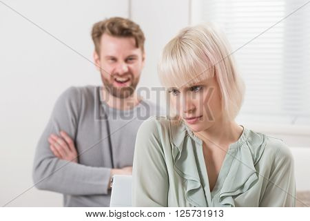 Man Having Argument With Woman
