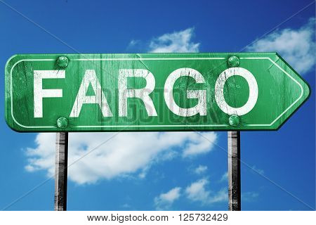fargo road sign on a blue sky background