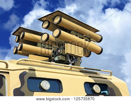Mobile missile system. Designed to defeat tanks and other armored targets