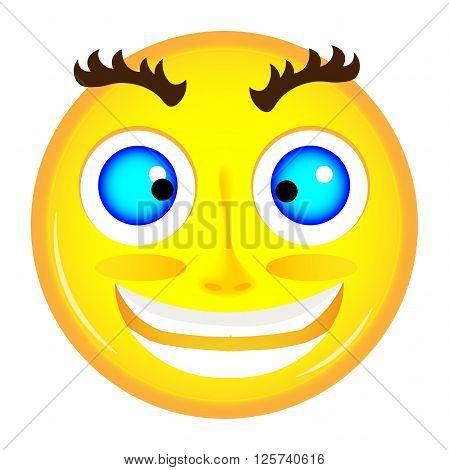Yellow Crazy Emoticon