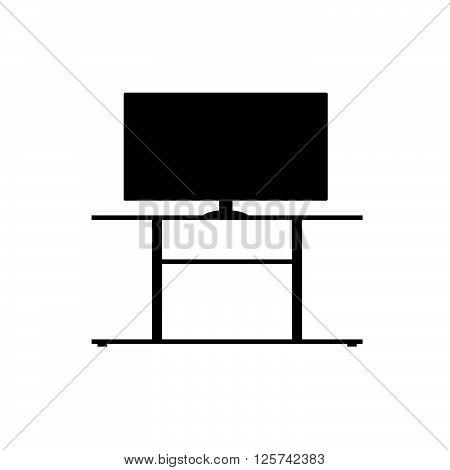 lcd tv screen in black color illustration