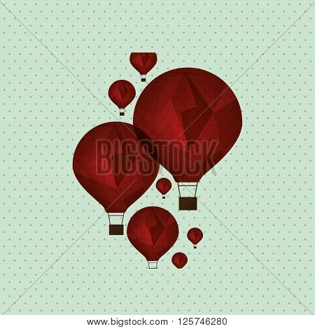 hot air balloon concept with icon design, vector illustration 10 eps graphic.