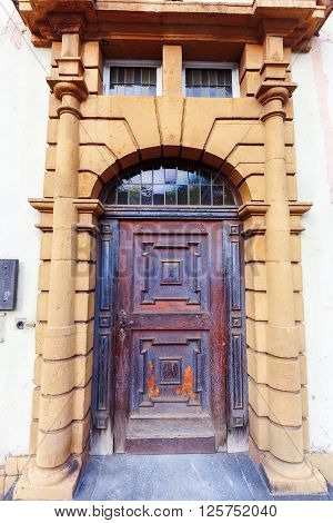 door of a historical building in Trier Germany