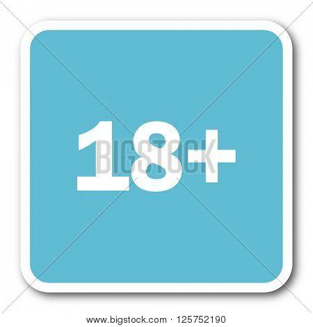 adults blue square internet flat design icon