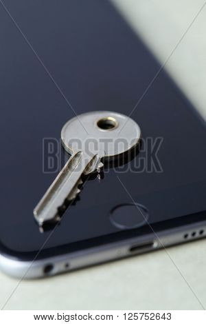 key on the mobile phone
