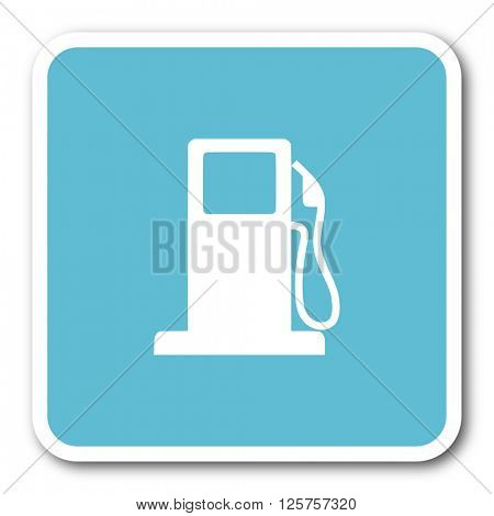 petrol blue square internet flat design icon