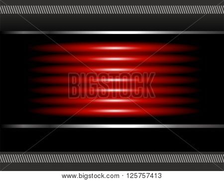 Red vector background overlap dimension 3d graphic message board for text and message design frame line shadow for modern web design eps10