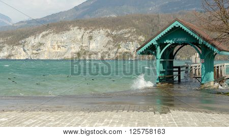 the Annecy lake boat landing stage in Saint-Jorioz