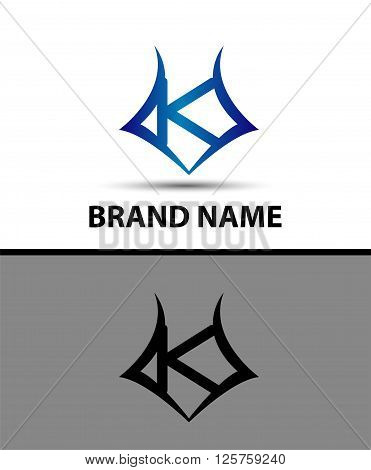 Letter K logo. Business logo vector illustration