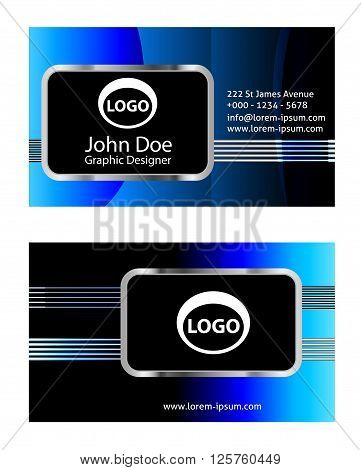 Business card background set. eps10 vector illustration abstract business card template