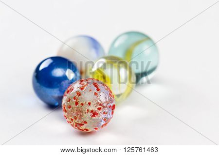 Marbles Isolated On White