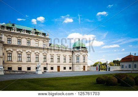 landmark Belvedere is a historic building complex in Vienna Austria