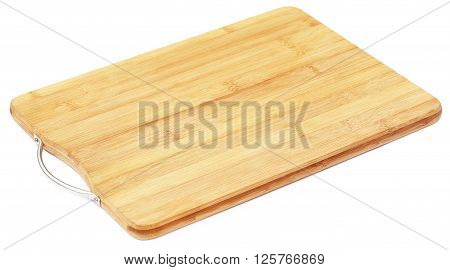 Close up of Chopping board over white background