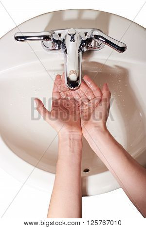 Rinse Hands With Water