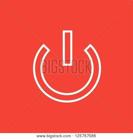 Power button line icon.