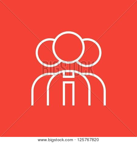 Group of businessmen line icon.