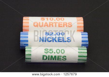 Three Rolls Of Coins