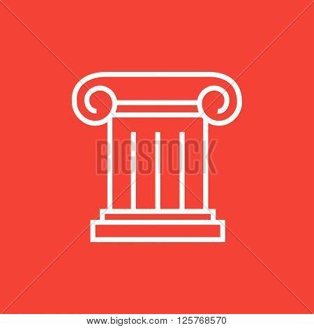 Ancient column line icon.
