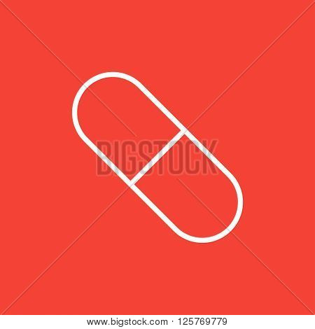 Capsule pill line icon.