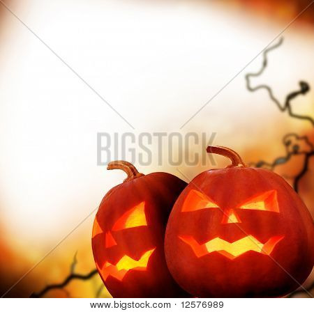 Halloween Pumpkins.Border Design