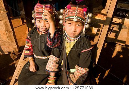 CHIANG DAO,  CHIANG MAI province , THAILAND - AUGUST 2, 2004 : 
