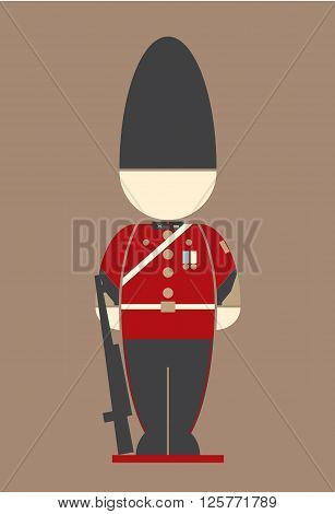 vector of thai Army at the palace