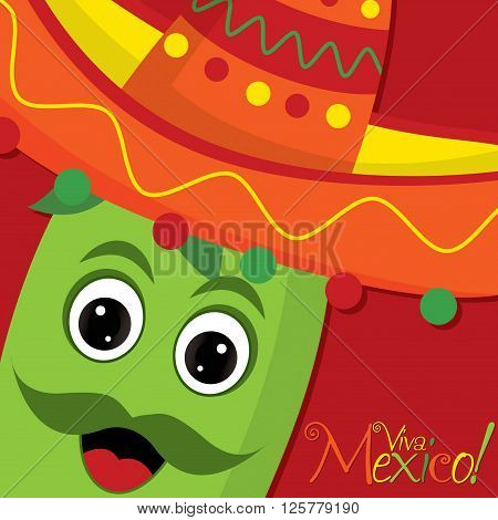 Chilli Pepper Character Card In Vector Format.