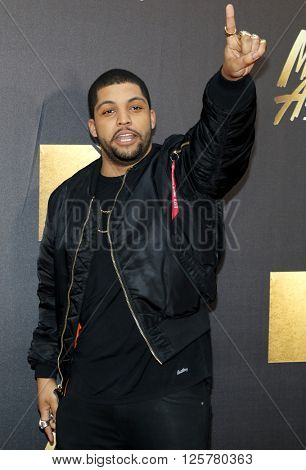 O'Shea Jackson Jr. at the 2016 MTV Movie Awards held at the Warner Bros. Studios in Burbank, USA on April 9, 2016.